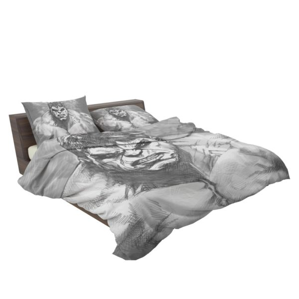 The Hulk Black And White Sketch Bedding Set 3