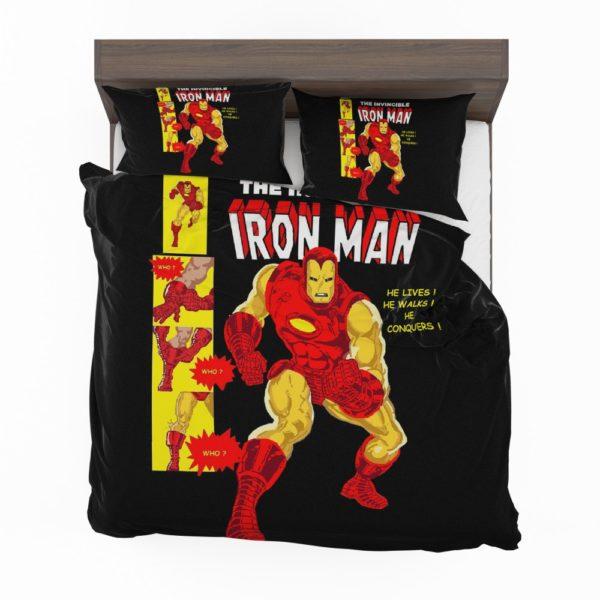 The Invincible Iron Man Marvel Comic Bedding Set 2