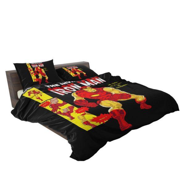 The Invincible Iron Man Marvel Comic Bedding Set 3