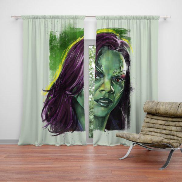 Zoe Saldana Gamora Curtain