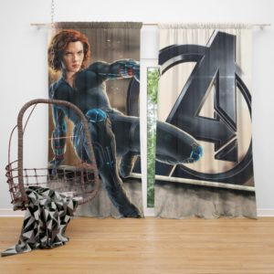 Age of Ultron The Avengers Black Widow Scarlett Johansson Curtain
