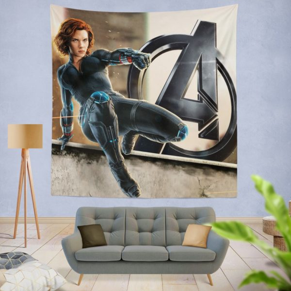 Age of Ultron The Avengers Black Widow Scarlett Johansson Wall Hanging Tapestry