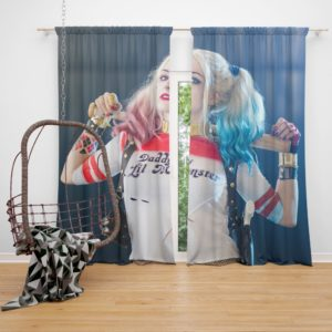 American Comic Harley Quinn Cosplay Curtain