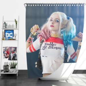American Comic Harley Quinn Cosplay Shower Curtain