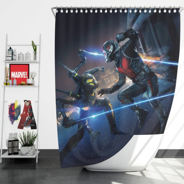 Ant-Man Ant-Man Yellowjacket Fighting Scene Shower Curtain