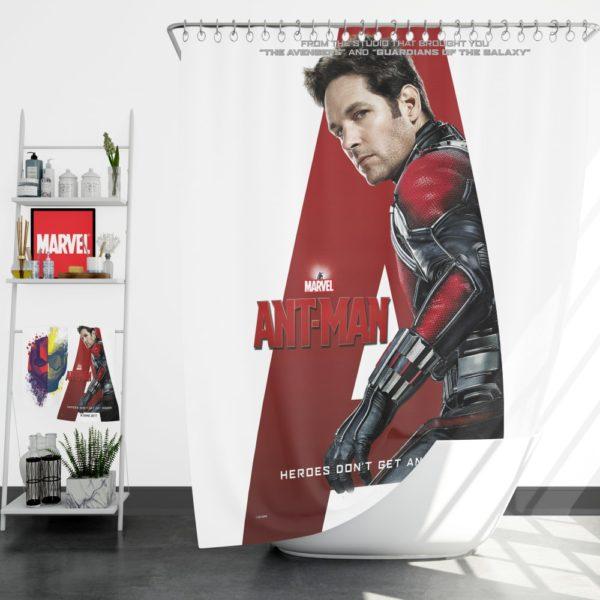 Ant-Man Marvel Movie Paul Rudd Shower Curtain