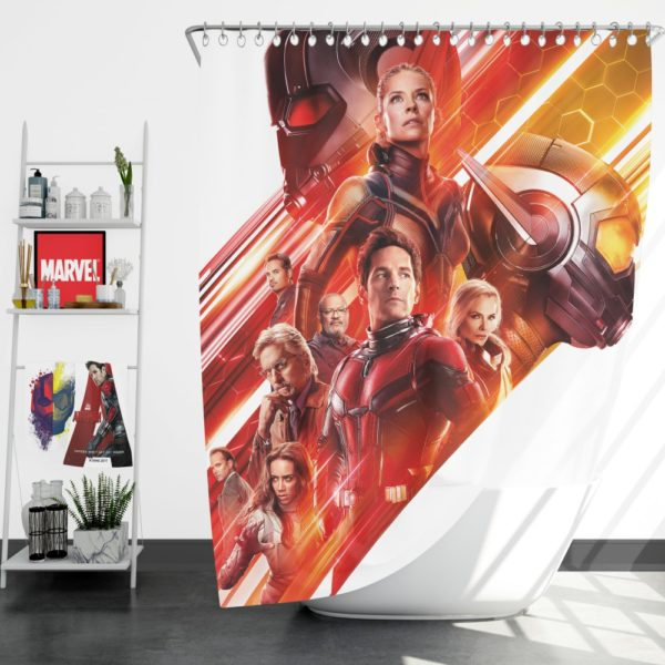 Ant-Man and the Wasp Marvel Movie Characters Shower Curtain