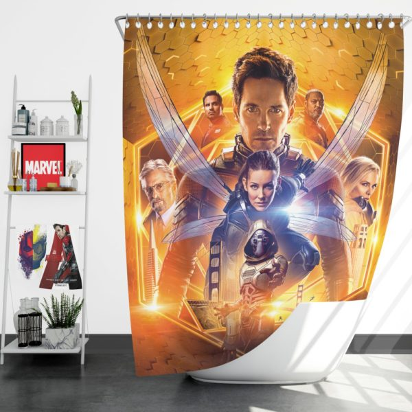 Ant-Man and the Wasp Marvel Movie Themed Shower Curtain
