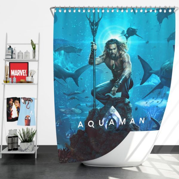 Aquaman Justice League Jason Momoa Shower Curtain