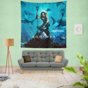 Aquaman Justice League Jason Momoa Wall Hanging Tapestry