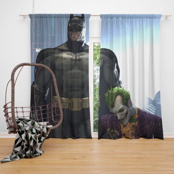 Arkham Asylum Video Game Batman and Joker Curtain