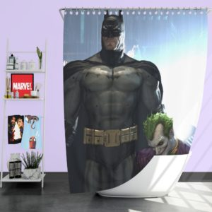 Arkham Asylum Video Game Batman and Joker Shower Curtain
