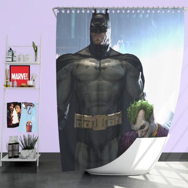 Arkham Asylum Video Game Batman and Joker Shower Curtain