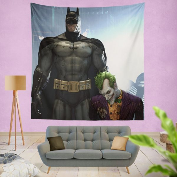 Arkham Asylum Video Game Batman and Joker Wall Hanging Tapestry