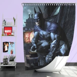 Arkham City Video Game Batman Shower Curtain
