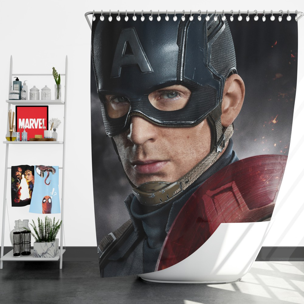 Avenger Captain America Civil War Movie Shower Curtain