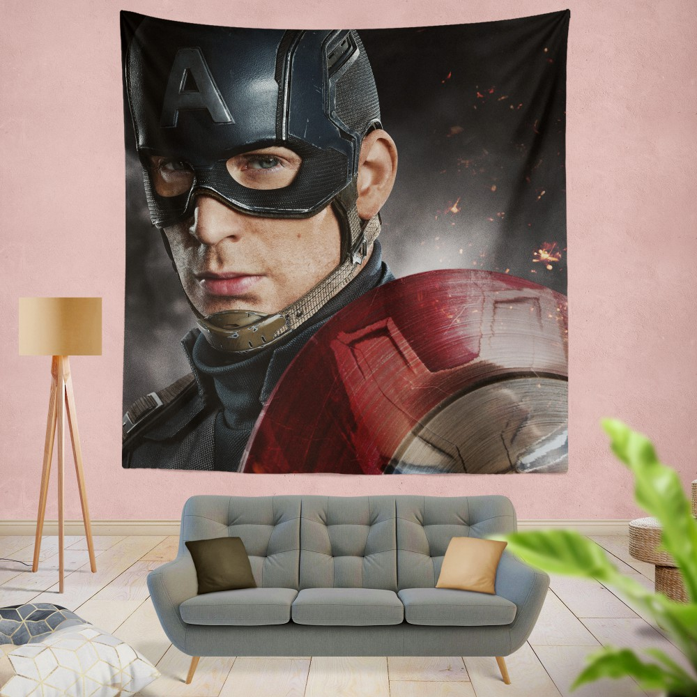 Avenger Captain America Civil War Movie Wall Hanging Tapestry