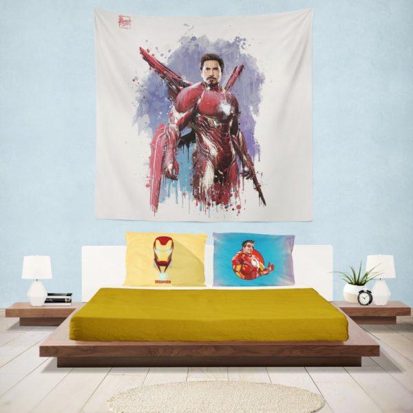 Avengers Infinity War Robert Downey Jr. Iron Man Marvel Comics Wall Hanging Tapestry