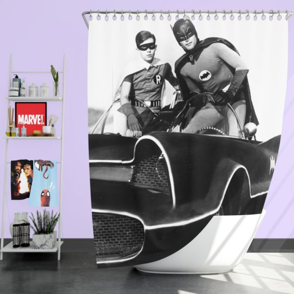 Batman Robin TV Show DC Comics Adam West Burt Ward Shower Curtain