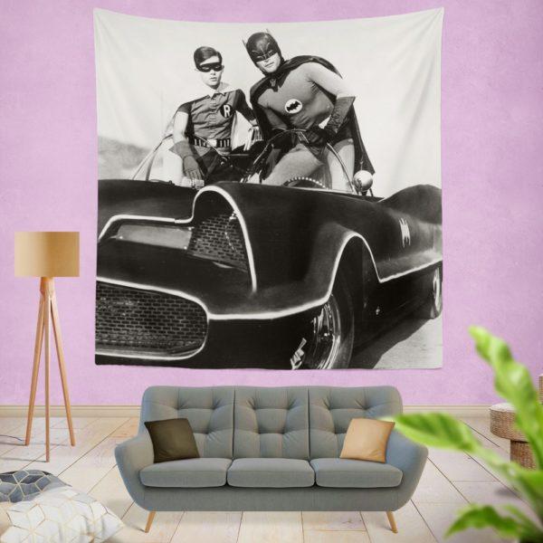 Batman Robin TV Show DC Comics Adam West Burt Ward Wall Hanging Tapestry