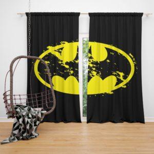Batman Yellow DC Symbol Curtain