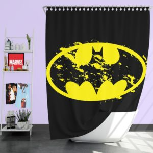 Batman Yellow DC Symbol Shower Curtain