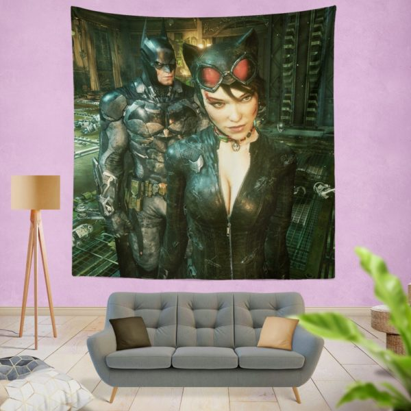 Batman and Catwoman Arkham Knight Wall Hanging Tapestry
