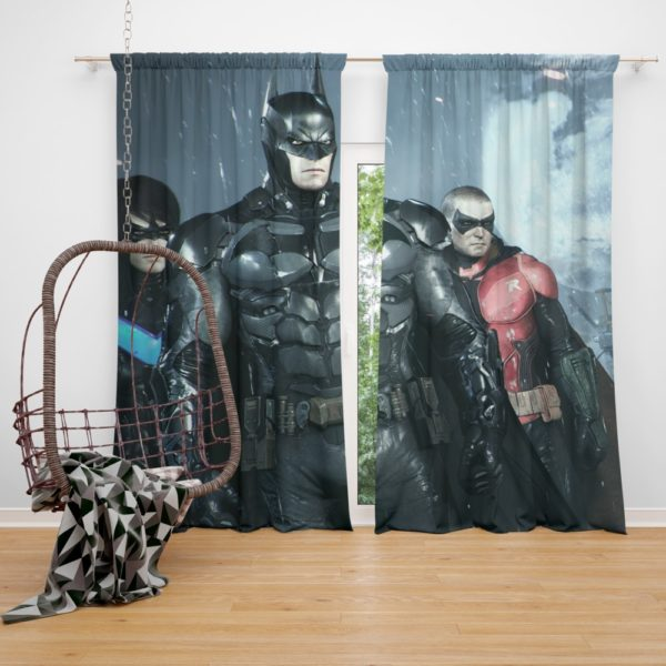 Batman and Robin Arkham Night Video Game Curtain