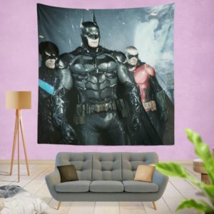 Batman and Robin Arkham Night Video Game Wall Hanging Tapestry