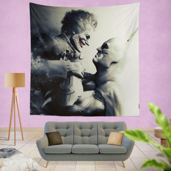 Batman vs Joker Arkham City The Dark Knight Crazyness Wall Hanging Tapestry