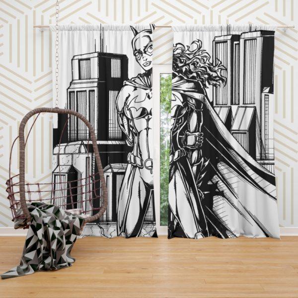 Batwoman Black & White Comic Art Curtain