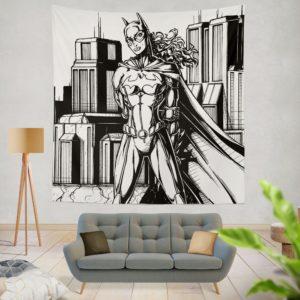 Batwoman Black & White Comic Art Wall Hanging Tapestry
