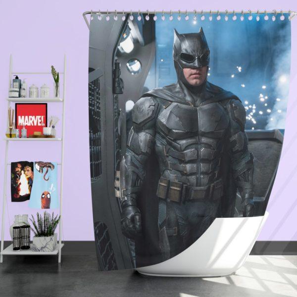 Ben Affleck Batman Bruce Wayne Justice League Shower Curtain