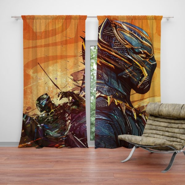 Black Panther Artwork Marvel Comics Curtain