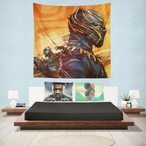 Black Panther Artwork Marvel Comics Wall Hanging Tapestry