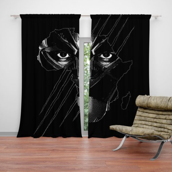 Black Panther Avenger Theme Curtain