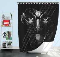 Black Panther Avenger Theme Shower Curtain