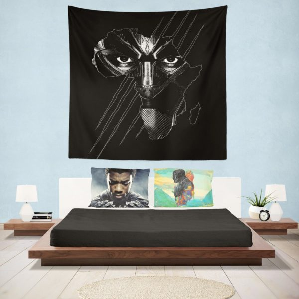Black Panther Avenger Theme Wall Hanging Tapestry