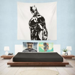 Black Panther Comics Drawing Wall Hanging Tapestry