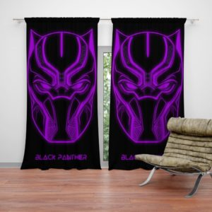 Black Panther Marvel Comics Purple Black Dark Curtain