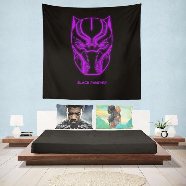 Black Panther Marvel Comics Purple Black Dark Wall Hanging Tapestry