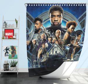 Black Panther Movie 2018 Marvel Shower Curtain