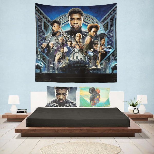 Black Panther Movie 2018 Marvel Wall Hanging Tapestry