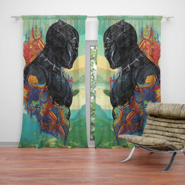 Black Panther T'Challa King Of Wakanda Curtain