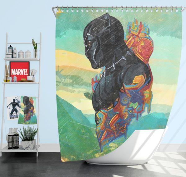 Black Panther T'Challa King Of Wakanda Shower Curtain