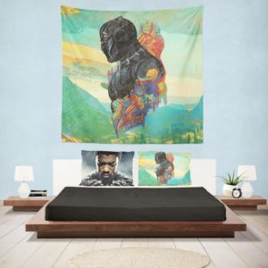 Black Panther T'Challa King Of Wakanda Wall Hanging Tapestry