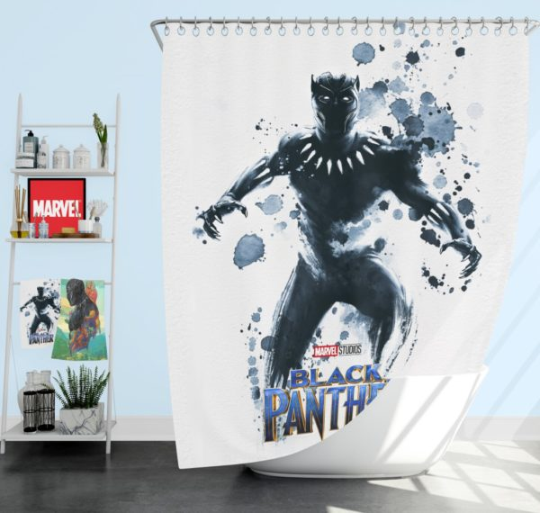 Black Panther The Noble Avenger Shower Curtain