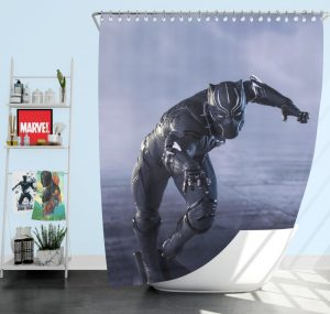 Black Panther in Captain America Civil War Movie Shower Curtain