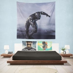 Black Panther in Captain America Civil War Movie Wall Hanging Tapestry