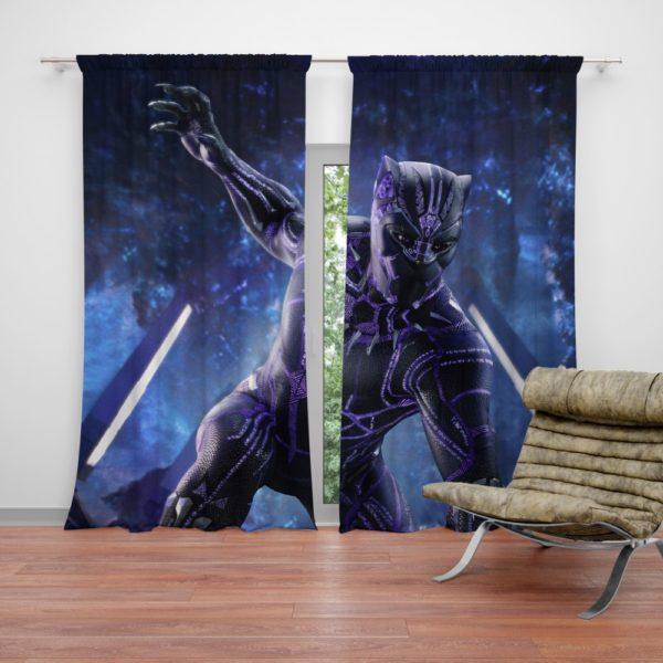 Black Panther the Fictional Superhero Curtain